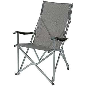 Coleman Summer - Silla plegable, color gris y plateado