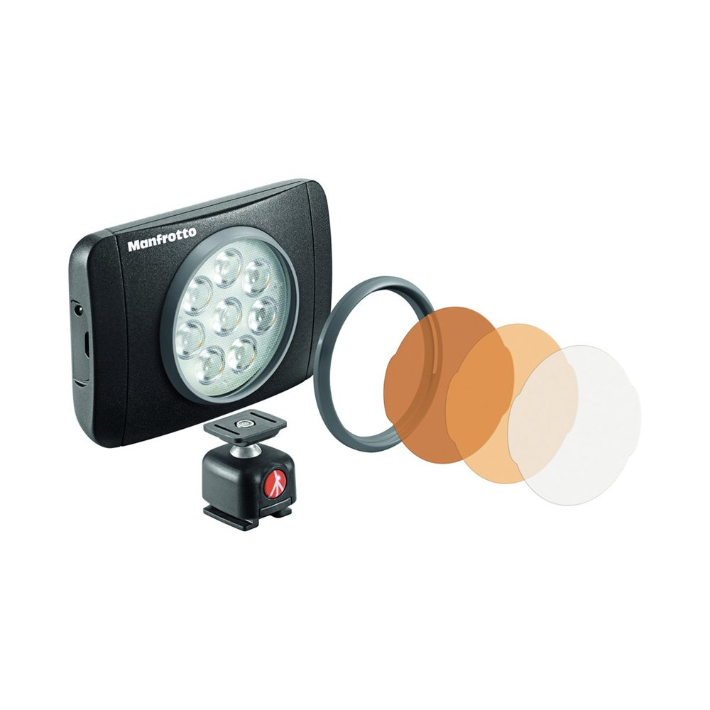 LUMIMUSE 8 LED Light and Accessories - Black by Manfrotto