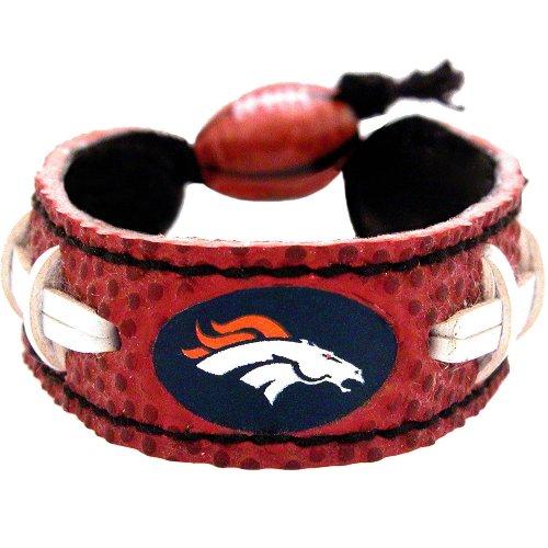 Leather Denver Broncos Bracelets - GameWear Denver Broncos Classic Football Bracelet