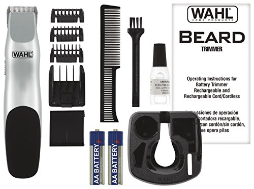 wahl 9906 717 groomsman cordless battery operated beard and mustache trimmer. Black Bedroom Furniture Sets. Home Design Ideas