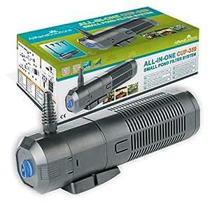 Filtro De Estanque / UV Esterilizador De Luz - Clarificador / Bomba / Fuente 2000 Litros Por Hora Todo En Un Sistema Para Todos Los Estanques Taza-359