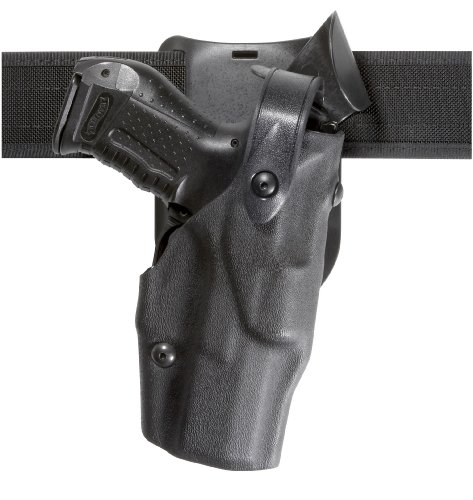 Safariland 6365 Level 3 Retention ALS Duty Holster, Low-Ride, Black, STX Basketweave, Glock 17 with M3 by Safariland