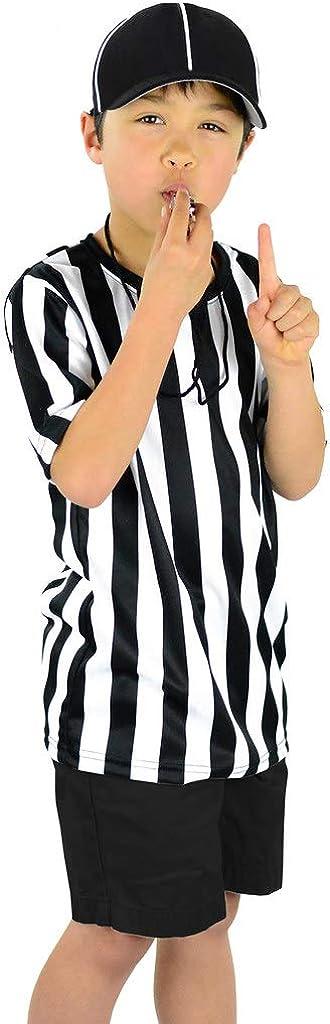 Mato /& Hash Childrens Referee Shirt Ref Costume Toddlers Kids Teens