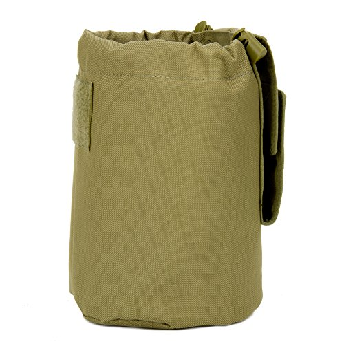 Large Collapiable Roll Up MOLLE Dump Pouch for Ammo, Brass, Magazines, Shells, and Misc Gear (Pouch Brass)