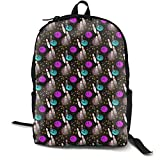 Mwsgs90 Laptop Backpack Night Fun Bowling Computer Bag College School Backpack Unisex