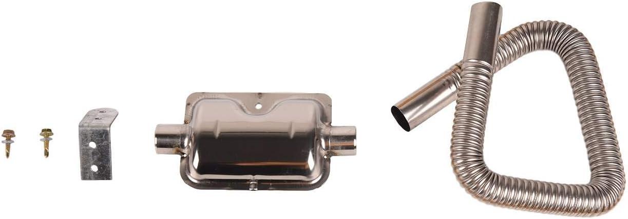 Air Heater Muffler Fit for Car Parking Air Diesel Heater Bapmic 60cm Stainless Parking Air Heater Tank Exhaust Pipe