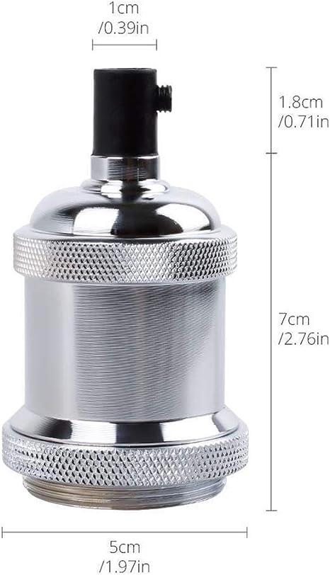 Rose rouge Base pour la douille E27 industrielle industrielle en aluminium de douille l/ég/ère dampoule de Edison durable