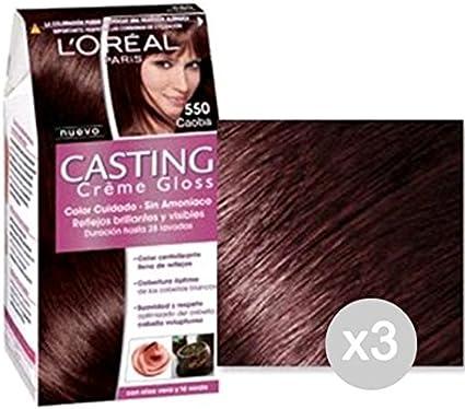 Set 3 CASTING Nata Gloss 550 Color Caoba Y Tintes: Amazon.es ...