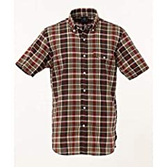 J. Press Madras Short Sleeve Button Down Shirt with Flap Pocket HHOVKM0426: Brown