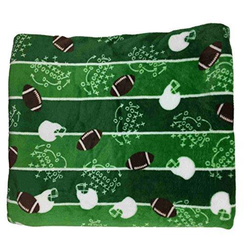 The Big One Plush Soft Football Gridiron Oversized Microplush Throw Blanket Plush Football Blanket