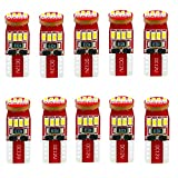 Alla Lighting 194 LED Bulb Interior Car Lights 168 2825 W5W T10 Extremely Super Bright 3014 Chipset Non-polarity LED 194 Bulb for License Plate Dome Map Door Courtesy Parking Trunk Lights (Pack of 10)