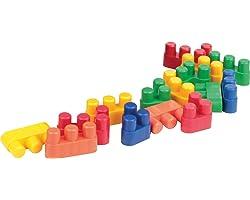 Carlu Brinquedos - Conectando Formas Jogo de Construção, 5+ Anos, 150 Peças, Multicolorido, 1934