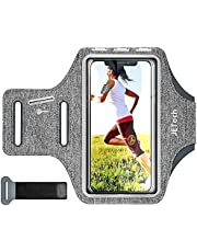 JETech Cell Phone Armband Case for Phone Up to 6.2 inch, Adjustable Band, w/Key Holder and Card Slot, for Running, Walking, Hiking, Grey