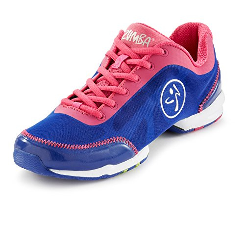 Zumba Footwear ZUMBAFLEX CLASSIC - zapatillas deportivas de material sintético mujer azul - Blau (White/Blue Curacao)