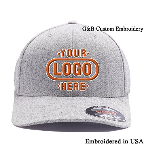 Yupoong Custom Hat. 6477 Flexfit. Embroidered. Place Your Own Logo or Text (L/XL, - Hat Embroidered Wool