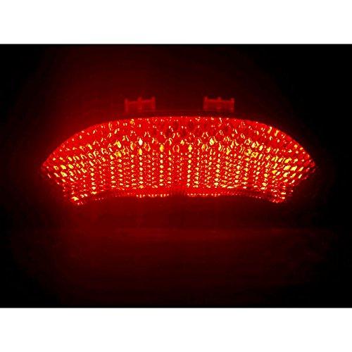 Krator 2003-2006 Honda CBR 600RR CBR600 2004-2007 Honda CBR 1000RR CBR1000 RR LED Taillights Brake Tail Lights with Integrated Turn Signals Indicators Smoke Motorcycle