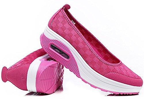 Maglia Da Donna Modello Odema Slip-on Sneaker Shape Up Scarpe Da Passeggio Rose Red