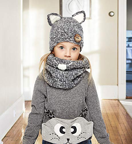 c0cb809c309 Sumolux Winter Kids Warm Cat Animal Hats Knitted Coif Hood Scarf Beanies  for Autumn Winter - KAUF.COM is exciting!