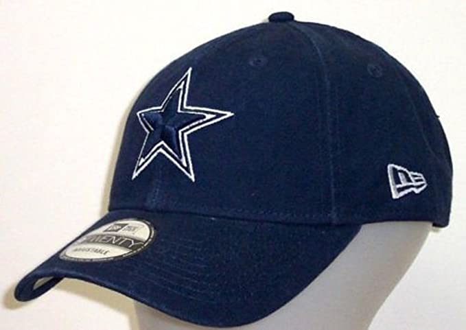 detailed look 1b7dc 5d6f4 Amazon.com   Dallas Cowboys Navy Core Classic 9TWENTY Adjustable Hat Cap    Clothing
