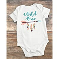 Wild One First Birthday Party Bodysuit - Feathers and Arrows Wild One Bodysuit for Babies 12-18 Month