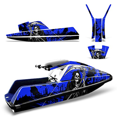 Yamaha Superjet Square Nose Decal Graphic Kit Ski Wrap Jetski Super Jet REAPER BLUE ()