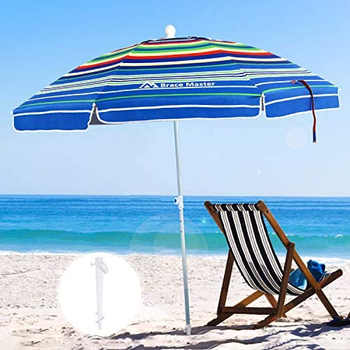 Brace Master Wind Resisitance Beach Umbrella