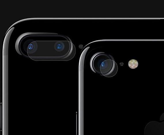28eb1e54c8c Kobwa cámara trasera lente pantalla para iPhone 7/7 Plus, cristal claro  dureza vidrio templado película de protección de cubierta de lente de la cámara  para ...