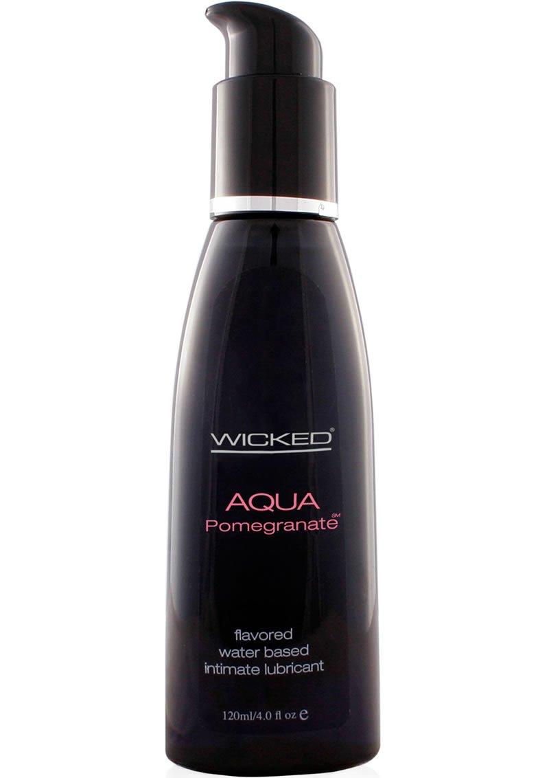 Siam Circus Wicked Sensual Care Aqua Water Based Pomegranate Flavored Lube Lubricant 4oz