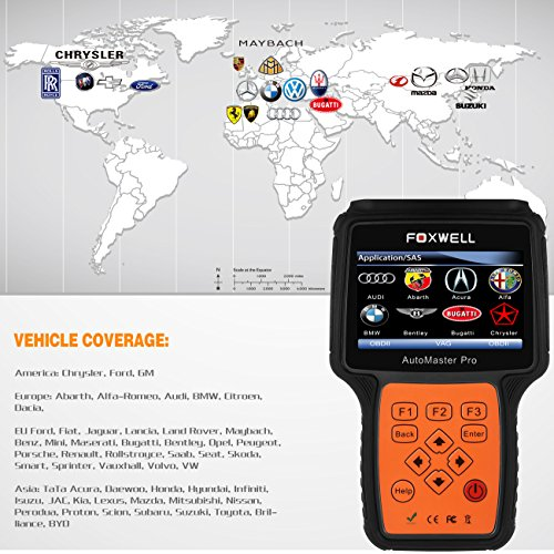 FOXWELL NT614 Automotive Scanner All Brand 4 System OBDII OBD2 Code Readers Check Engine ABS Airbag Transmission + EPB Oil Reset Car Diagnostic Tool by FOXWELL (Image #3)