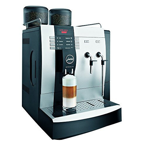Jura Impressa X9 Super Automatic Commercial Espresso Machine with Auto Cappuccino, Graphic Display, Programming Function, Permanent Connection to Water Supply and Daily capacity 150 cups, Stainless Steel