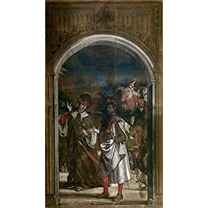 Perfect Effect Canvas ,the High Quality Art Decorative Canvas Prints Of Oil Painting 'Berruguete Pedro Dos Reyes Magos 1493 99 ', 16 X 28 Inch / 41 X 72 Cm Is Best For Foyer Decor And Home Decoration And Gifts