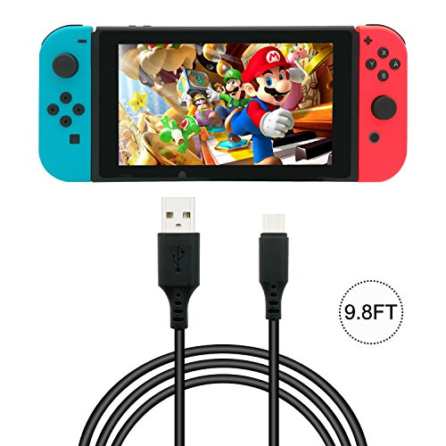 Fyoung 9.8 Feet Charging Cable for Nintendo Switch ,Fast charge,USB Type A to Type C Charging Cable for Switch