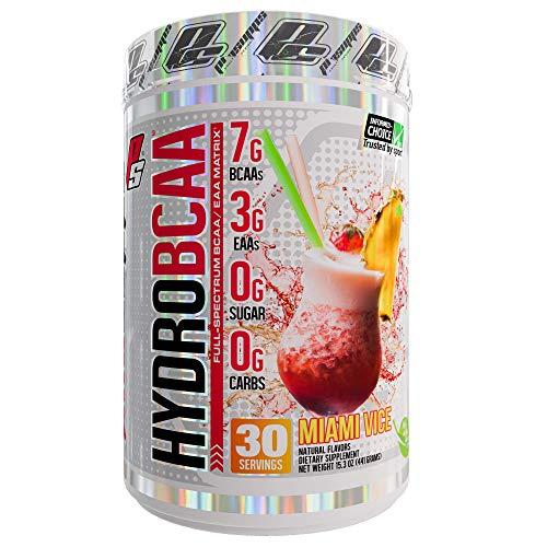 ProSupps HydroBCAA BCAA/EAA Full Spectrum Matrix, 7g BCAAs, 3g EAAs, 0g Sugar, 0g Carbs, 30 Servings, (Miami Vice Flavor) ()