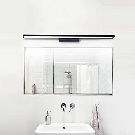 BiuTeFang Moda blanco espejo gabinete luces impermeable antivaho aluminio baño LED espejo luces delanteras 60cm 12W: Amazon.es: Iluminación