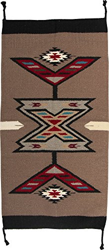 (El Paso Designs Southwest Hand Woven Wool Accent Rug (20