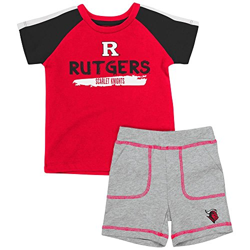 (Infant Rutgers Scarlet Knights Tee Shirt and Shorts Set - 12 to 18 Months )