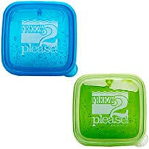 """Teacher Peach""""Freeze 2 Please"""" Sandwich Container - Reusable Food Storage Box for Kids and Adults - 2 Pack"""