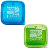 Teacher Peach'Freeze 2 Please' Sandwich Container - Reusable Food Storage Box for Kids and Adults - 2 Pack
