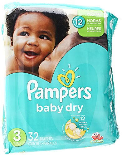 Pampers Baby Dry Diapers Size 3 Jumbo Pack, 32 Count