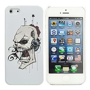 JJE Bleeding Skull Pattern PC Hard Case for iPhone 5