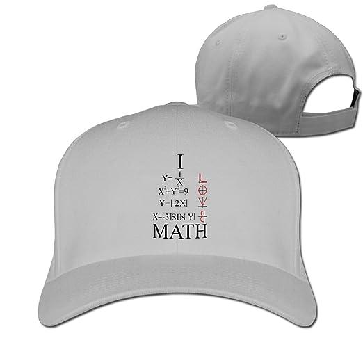 5fa0d000a3b Amazon.com  Unisex Love Heart Equation Math Baseball Hip-hop Cap Vintage  Adjustable Hats for Women and Men Ash