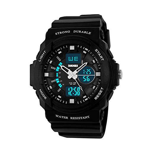 Price comparison product image SKMEI Brand 1061 Japanese-quartz LED And Pointer Display , 50M Waterproof Multi-functional Sports Watch For 4-10 Children