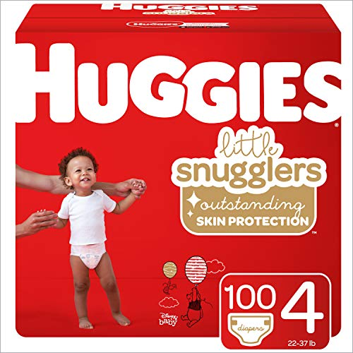 Huggies Little Snugglers Diapers, Size 4, 100 Count (Packaging May Vary)