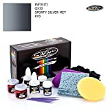 INFINITI QX30 / SPORTY SILVER MET - KY0 / COLOR N DRIVE TOUCH UP PAINT SYSTEM FOR PAINT CHIPS AND SCRATCHES / BASIC PACK