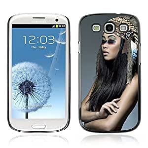 Colorful Printed Hard Protective Back Case Cover Shell Skin for Samsung Galaxy S3 III / i9300 i717 ( Beautiful Native American Girl )