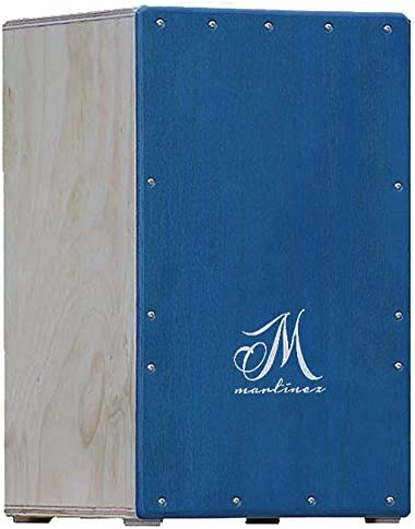 M.Martinez - Cajon Flamenco para niños tamaño cadete color azul percusion: Amazon.es: Instrumentos musicales