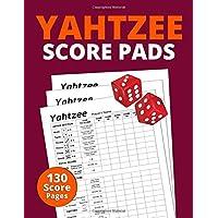 "Yahtzee Score Pads: 130 Pages Premium Quality Score Pads for Scorekeeping | 8.5"" x 11"" Yahtzee Score Cards"