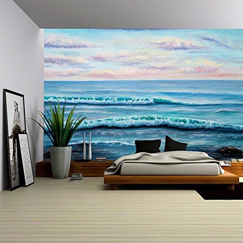 Original Oil Painting Showing Ocean or Sea Shore or Beach