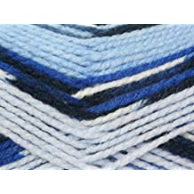 King Cole Big Value Multi Knitting Yarn Chunky 1006 Denims - per 100 gram ball