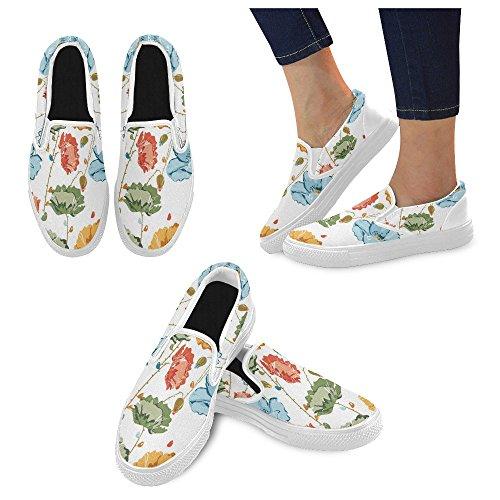 Unique Debora Custom Fashion Womens Sneakers Unusual Loafers Slip-on Canvas Shoes Multicoloured1